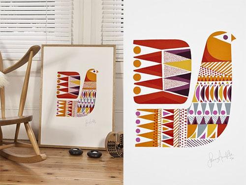 Lapinlintu Art Print by Sanna Annukka