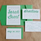 Modern Typographic Letterpress Invitations