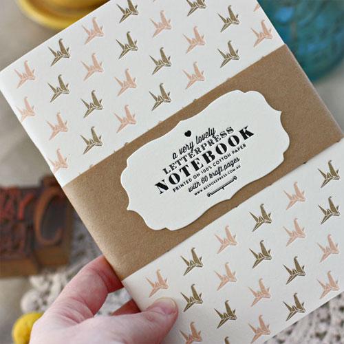 Bespoke Letterpress Patterned Notebooks