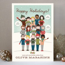 The Gang's All Here Business Holiday Cards