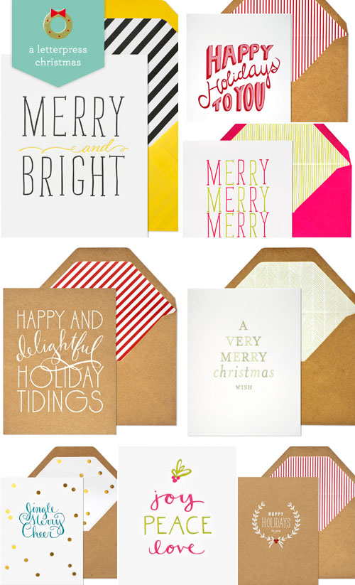 Letterpress Holiday Cards Sugar Paper