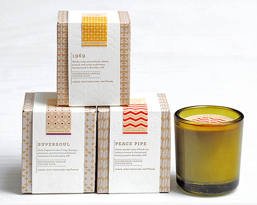 Love Nature NYC Candle Packaging