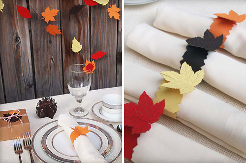 Decorating with paper a modern thanksgiving tablescape