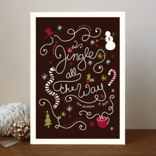 Jingling Script Holiday Cards