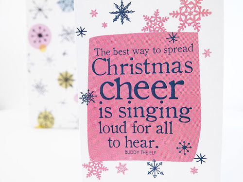 Elf Quote Christmas Card
