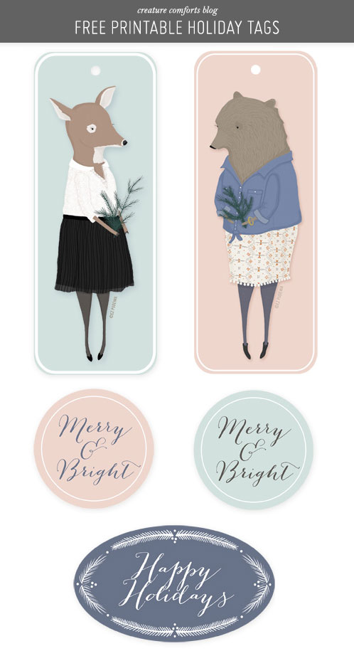 Illustrated Holiday Gift Tags by Creature Comforts