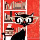 Black Cat Screenprint