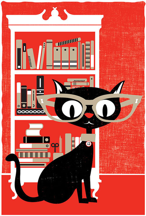 Black Cat Screenprint