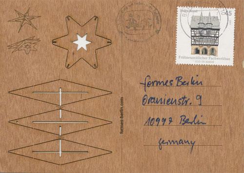 Wood Veneer 3D Postcard