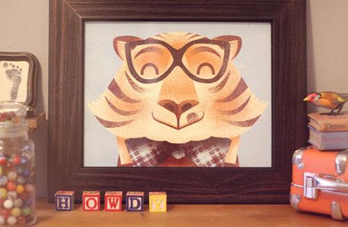 Howdy, Mates! Tiger Screenprint