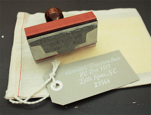 Ladyfingers Letterpress Custom Rubber Stamps