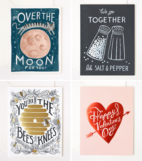 Illustrated Valentine's Day Cards by Rifle Paper Co.