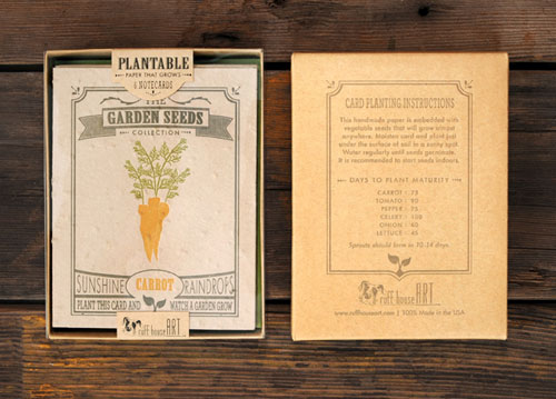 Seeded Letterpress Greeting Cards