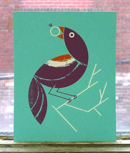 Birds of Play Screen Print