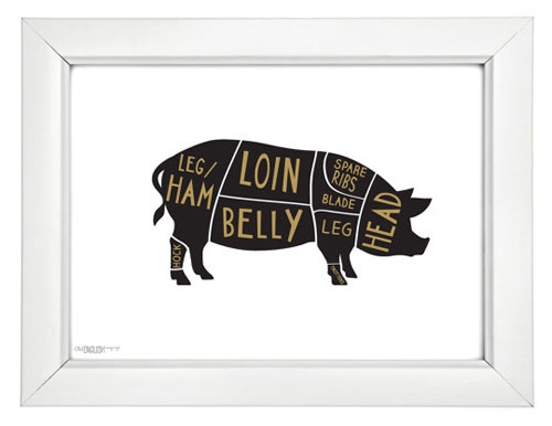 Pork Butcher Print by Old English Co.