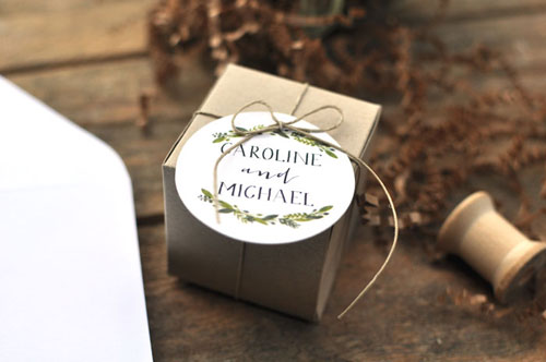 Botanical Wedding Favor Tags