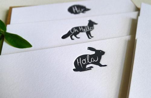 Hola Bunny Card
