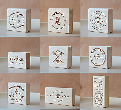 Honey Bee Rubber Stamp Collection | Lush Prints