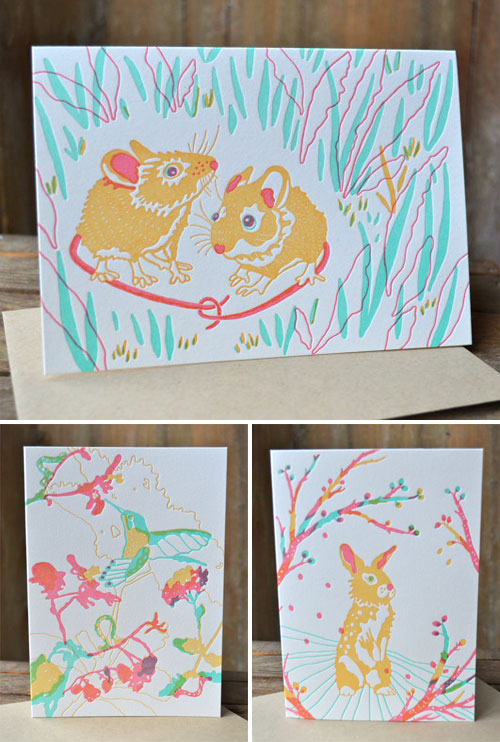 Moxie House Paper Goods + Betsy Olmsted Letterpress Cards
