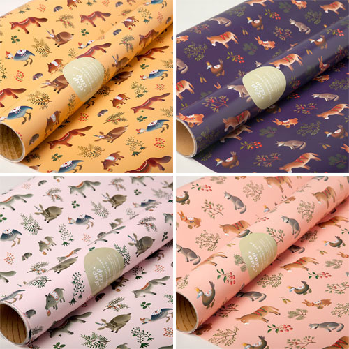 Farm Animals Illustrated Gift Wrap | Clap Clap Design