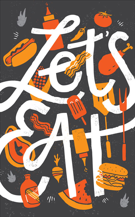 Let's Eat Art Print | Vaughn Fender