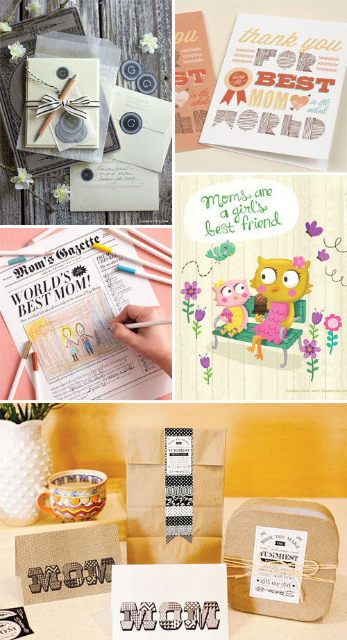 Free Mother's Day Printables as seen on papercrave.com