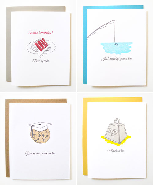 Idioms Letterpress Cards | Wild Ink Press