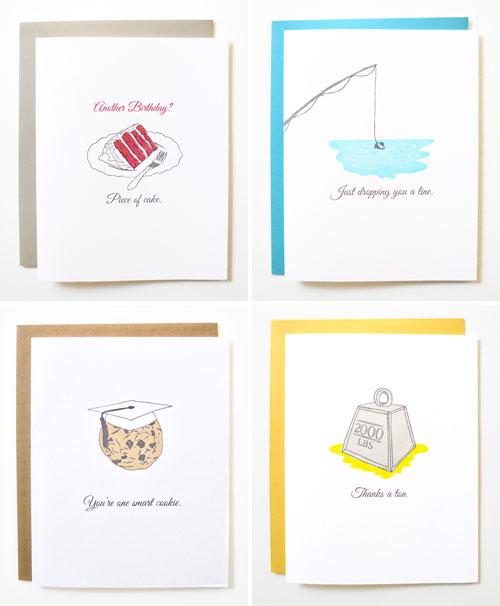 Idioms Letterpress Cards | Wild Ink Press