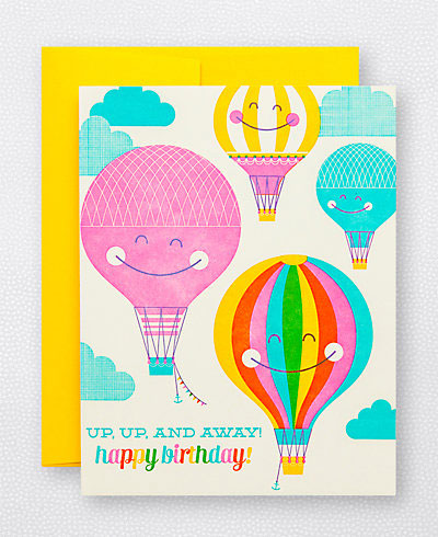 Hot Air Balloon Birthday Card | Hello! Lucky