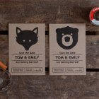 Tom + Emily's Fox and Bear Save the Dates