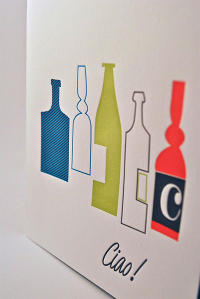 Ciao Letterpress Card | Shed Letterpress