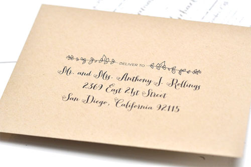 Custom Wedding Envelopes | Smitten on Paper