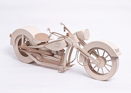 Cardboard Harley Davidson Sculpture   Anderson Diego Lopes