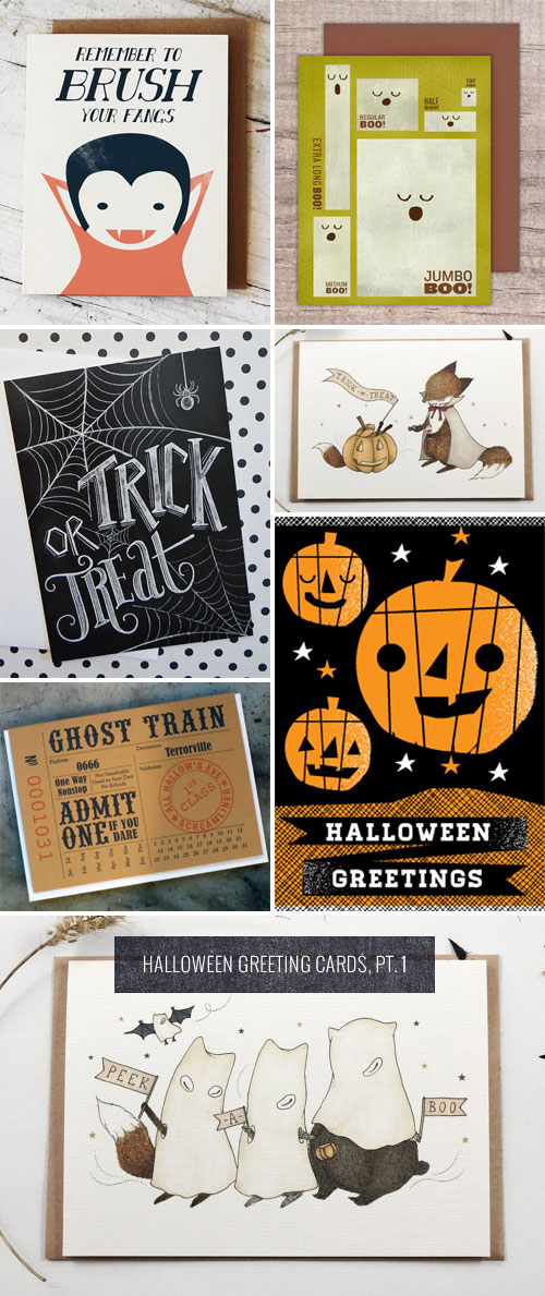 Halloween Greeting Cards, Pt. 1 as seen on papercrave.com