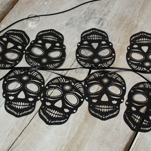 Lasercut Sugar Skull Bunting | Mr. Yen