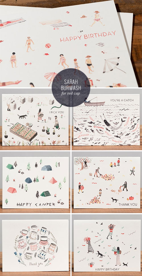 Sarah Burwash for Red Cap Cards