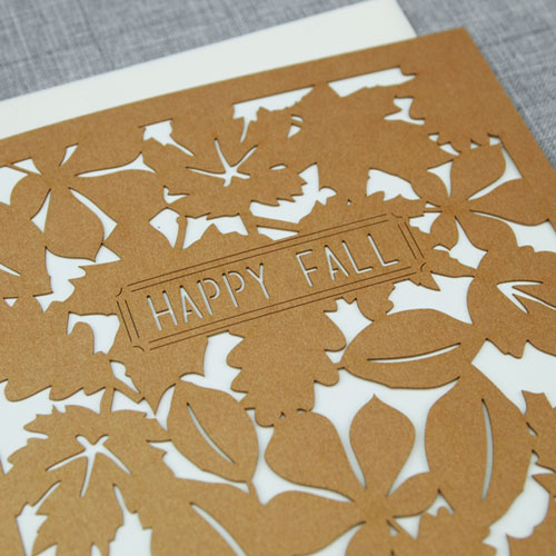 Happy Fall Laser Cut Card | Alexis Mattox Design