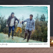 Aquarelle Holiday Photo Cards