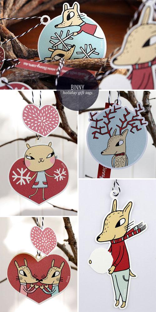 Nordic Noel Gift Tag Ornaments | Binny