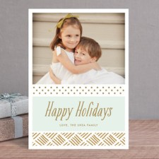 Gilded Holiday Photo Cards