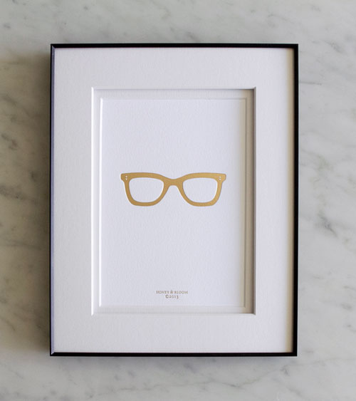 Gold Frames Gold Foil Debossed Print | Honey & Bloom
