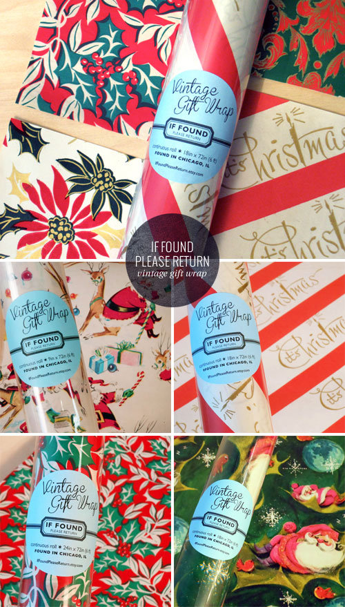 Vintage Holiday Gift Wrap | If Found Please Return