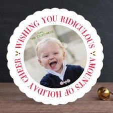 Ridiculous Cheer Holiday Photo Cards