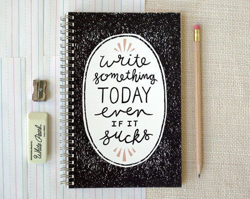 Write Something Notebook | Wit & Whistle