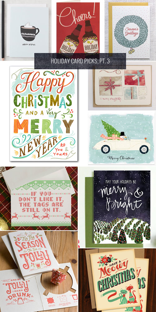 Holiday Card Picks, Pt. 3 as seen on papercrave.com