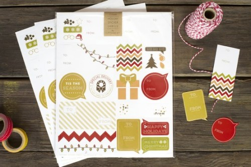 Holiday Labels | Ruff House Art