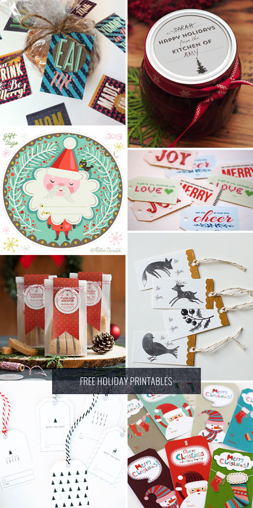 Free Printable Holiday Gift Tags & Labels as seen on papercrave.com