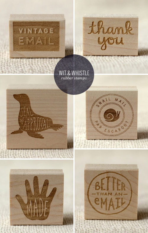 Hand Lettered and Illustrated Rubber Stamps | Wit & Whistle