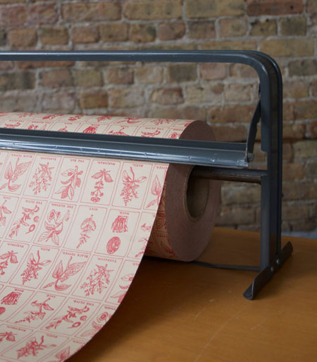 Vintage Pink Herb Wrapping Paper | Department Chicago