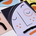 Interactive Mustache Cards   Doo Daa Studio